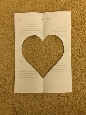 Use this stencil to draw a heart, in pen onto your felt.